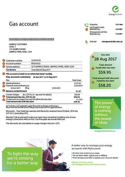 EnergyAustralia Gas Bill